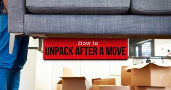 Image of a Person Unpacking After a Move