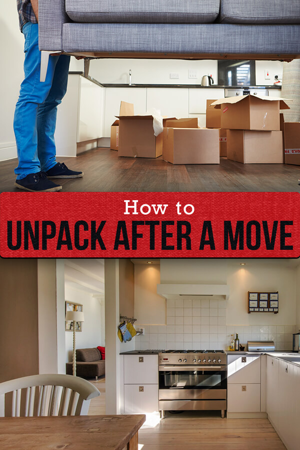 Learn how to unpack after a move in just six steps with these expert tips from home organizers and decluttering specialists.