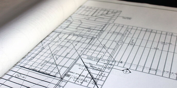 Blueprints Identify Load Bearing Walls
