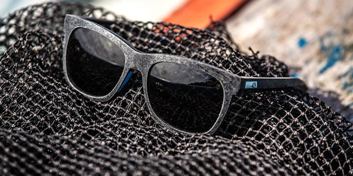 Black Sunglasses Made From Recycled Fishing Nets