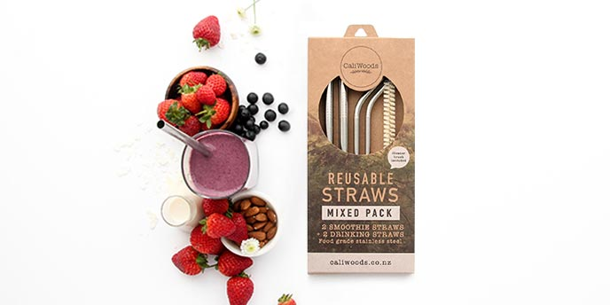 Reusable Straws with Smoothies