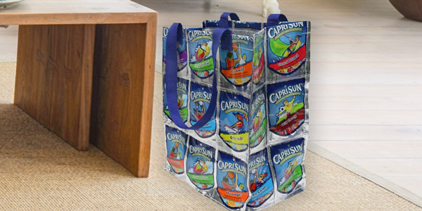 Capri Sun Pouches Turned Into Tote Bag