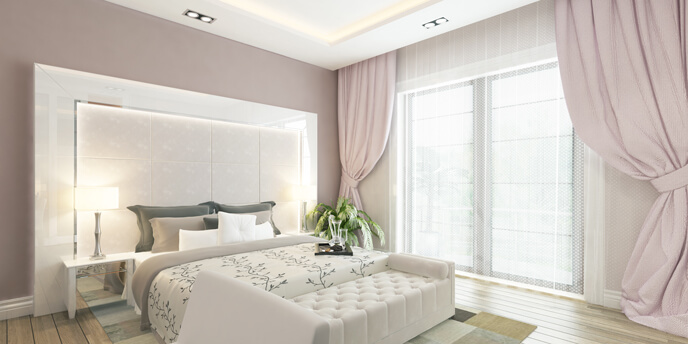 Dusty Pink Bedroom Paint