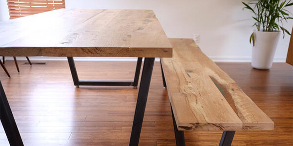 Custom Furniture Made from Reclaimed Hardwood