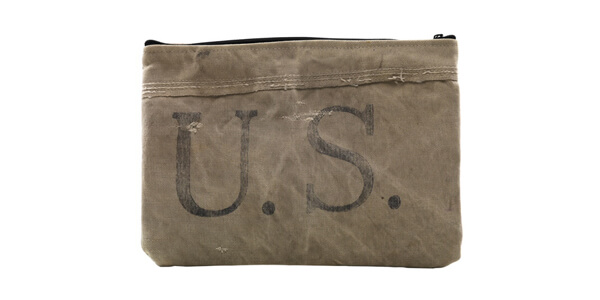 Repurposed US Postal Service Mailbag Tablet Case