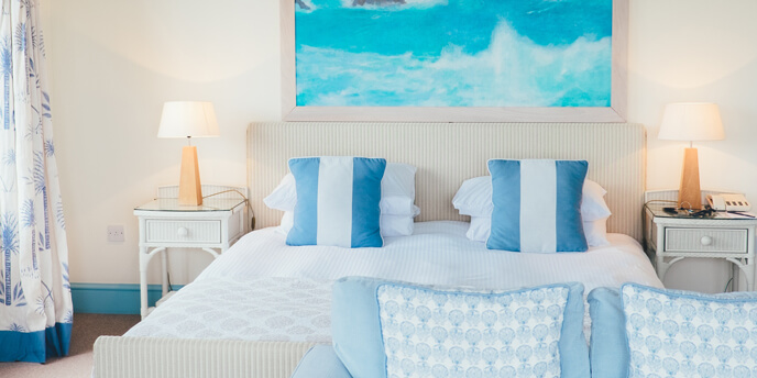 Bedroom With Sky Blue Accents