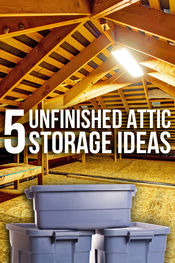 Tired of digging through boxes in the attic every time you want to break out your old snow cone maker? Use these five attic storage ideas to save more time the next time you venture up the ladder.