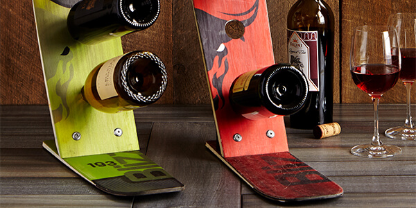 Upcycled Ski Wine Rack