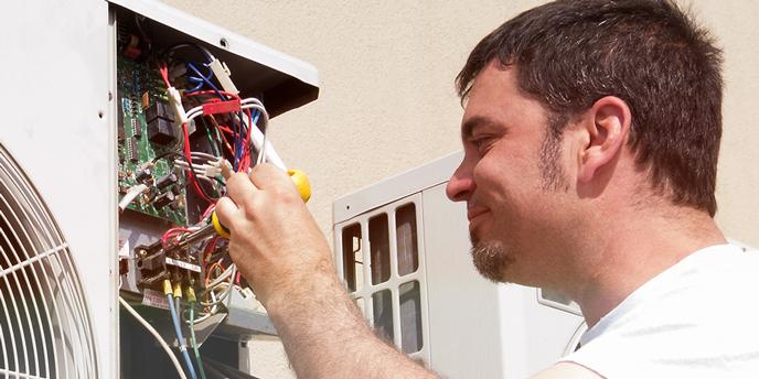 HVAC Professional Fixing Mini-Split System