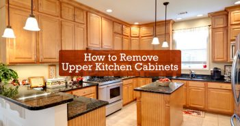 How to Remove Upper Kitchen Cabinets