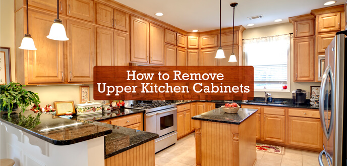 How to Remove Upper Kitchen Cabinets | Budget Dumpster