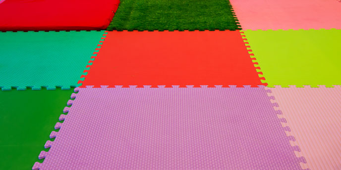 Multi-Color Foam Playroom Mat