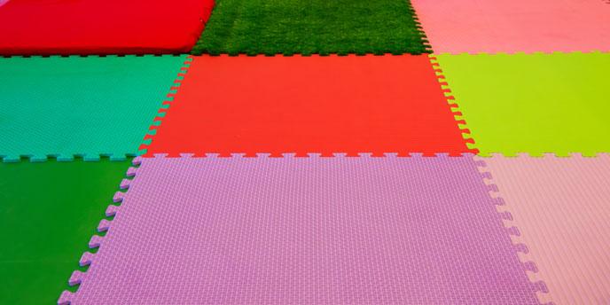Multi-Color Foam Playroom Mat