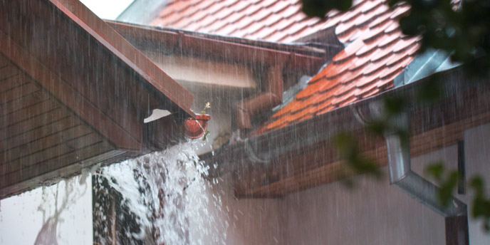 Gutters in Heavy Rain