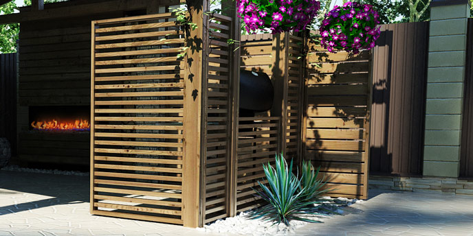 Remarkable 7 Inexpensive Backyard Privacy Ideas Budget Dumpster Home Interior And Landscaping Spoatsignezvosmurscom