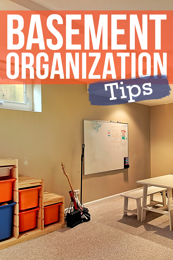 Organizing your basement doesn't have to be a weekslong project. Use these 4 easy steps to organize and create new storage spaces for your basement clutter.