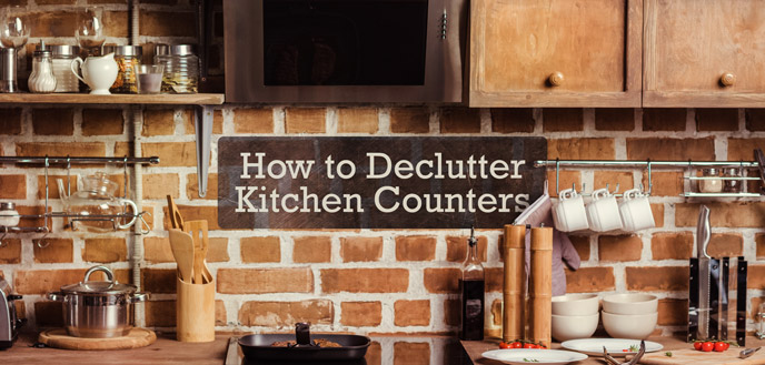 How to Declutter Kitchen Counters