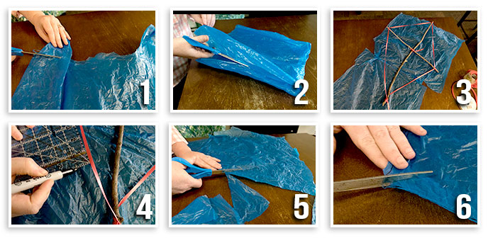 Creating Kite Sail From Plastic Bag