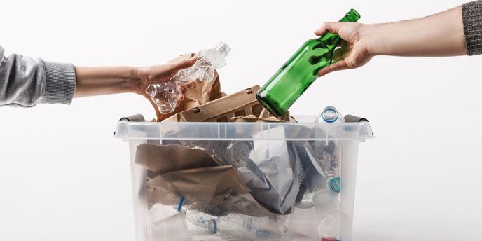 Recycle Glass in Curbside Bin