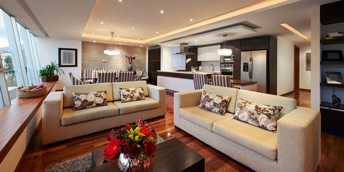 Living Room Staged for Sale