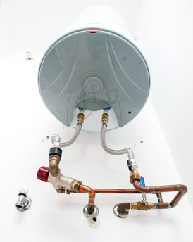 Hot and Cold Water Pipes Under Hot Water Heater