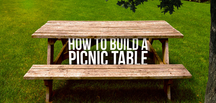 How To Build A DIY Picnic Table Budget Dumpster - How to stain a picnic table