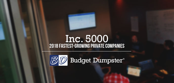 Budget Dumpster Wins Inc. 5000