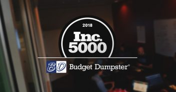 Budget Dumpster Named to 2018 Inc 5000