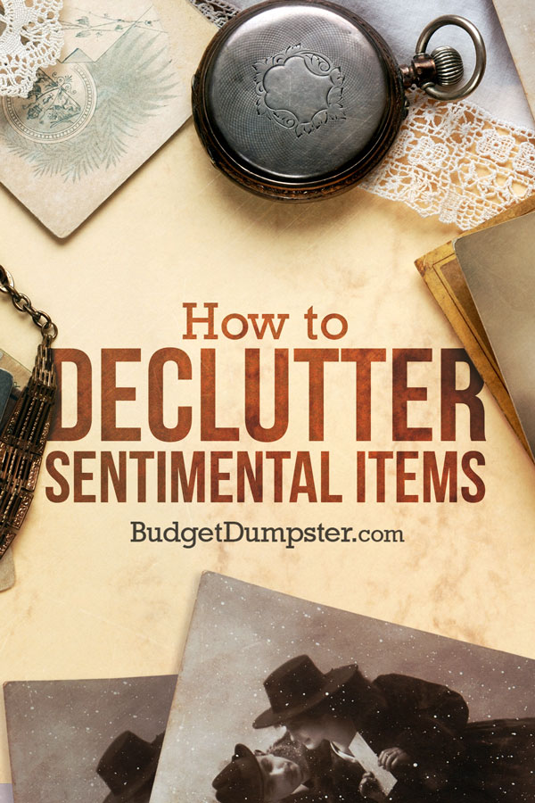 How to Declutter Sentimental Items Pinterest