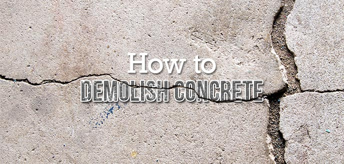 How To Break Up A Concrete Slab Budget Dumpster
