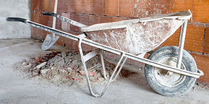 Wheelbarrow to Transport Broken Concrete