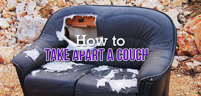 How To Take Apart A Couch Throw Away