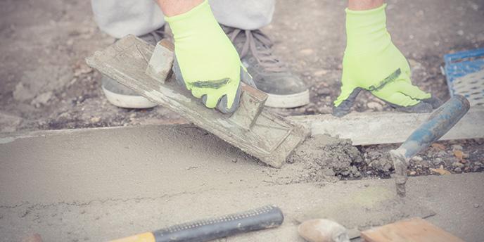 Homeowner Replacing a Concrete Sidewalk Slab.