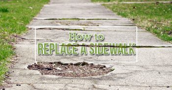 How to Replace a Sidewalk in a Day.