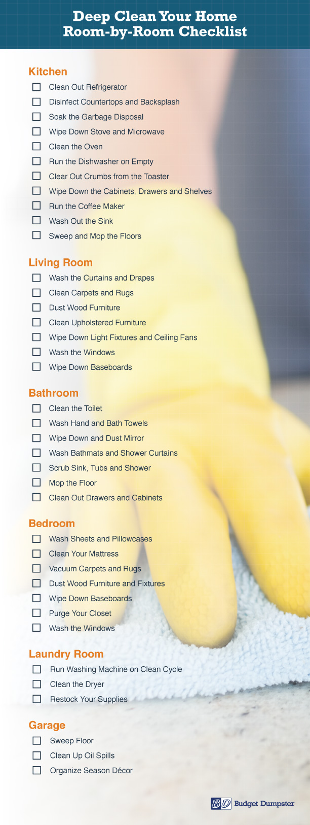 Deep Cleaning Checklist for Each Room in the House