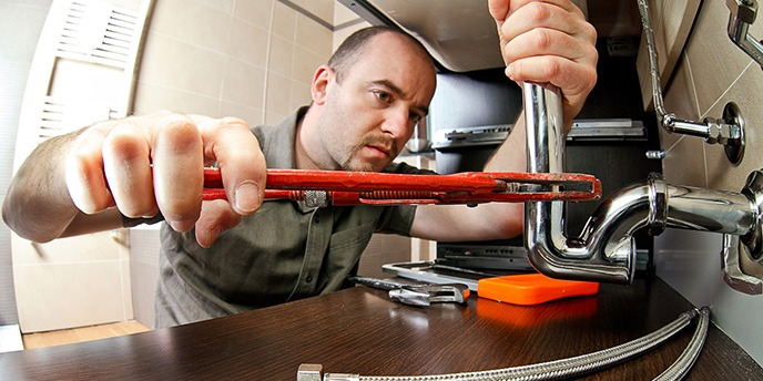 Plumber Repairing Leaky Pipes
