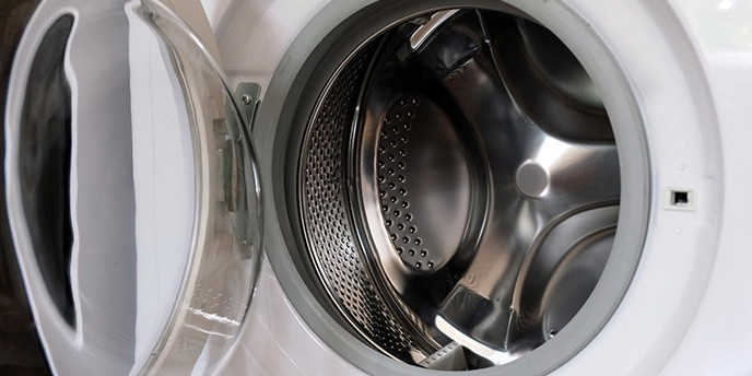 Door Open on Front Load Washing Machine