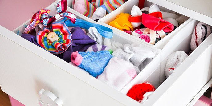 Drawer Filled With Baby Socks
