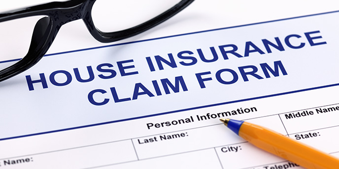 Home Insurance Claim Form with Pen
