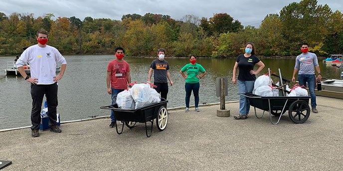 Give Back Cincinnati Volunteers at Park Cleanup