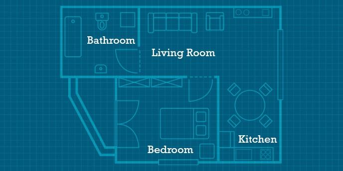 In-Law Suite Floorplan Blueprint