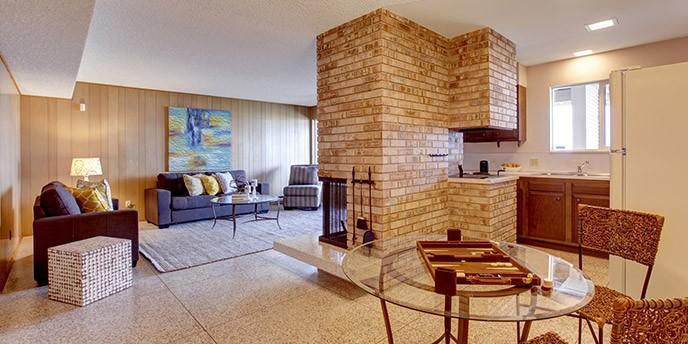 Open Floor Plan Basement Apartment