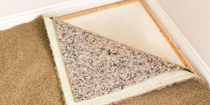 Carpet Underlay Turned for Installation