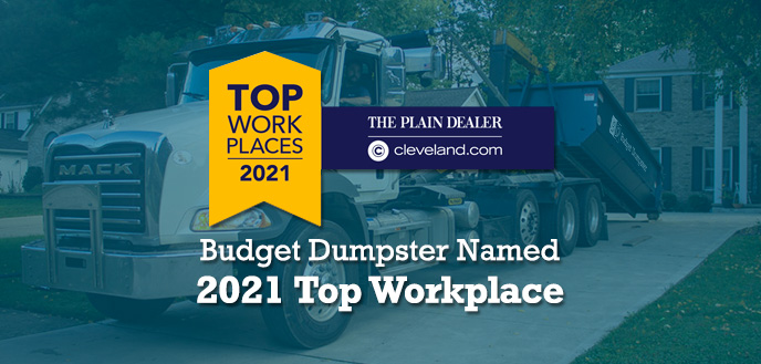 Budget Dumpster Named 2021 Top Workplace