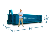 Approximate 10 Yard Dumpster Size and Dimensions.