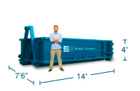 Approximate 12 Yard Dumpster Size and Dimensions.