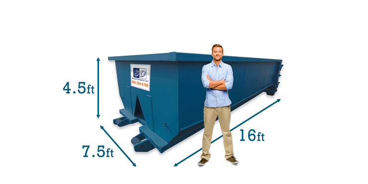 15 Yard Dumpster Dimensions