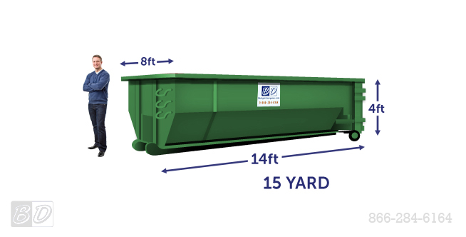 15 Yard Roll Off Dumpster Rental | 15 Cubic Yard Dumpster Dimensions