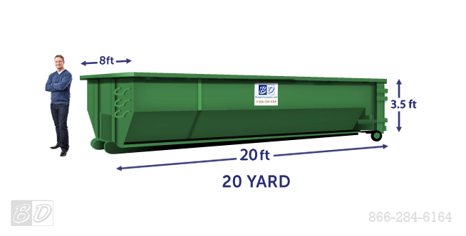 20 Yard Roll Off Dumpster Rental | 20 Cubic Yard Dumpster Dimensions