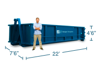 Approximate 20 Yard Dumpster Size and Dimensions.